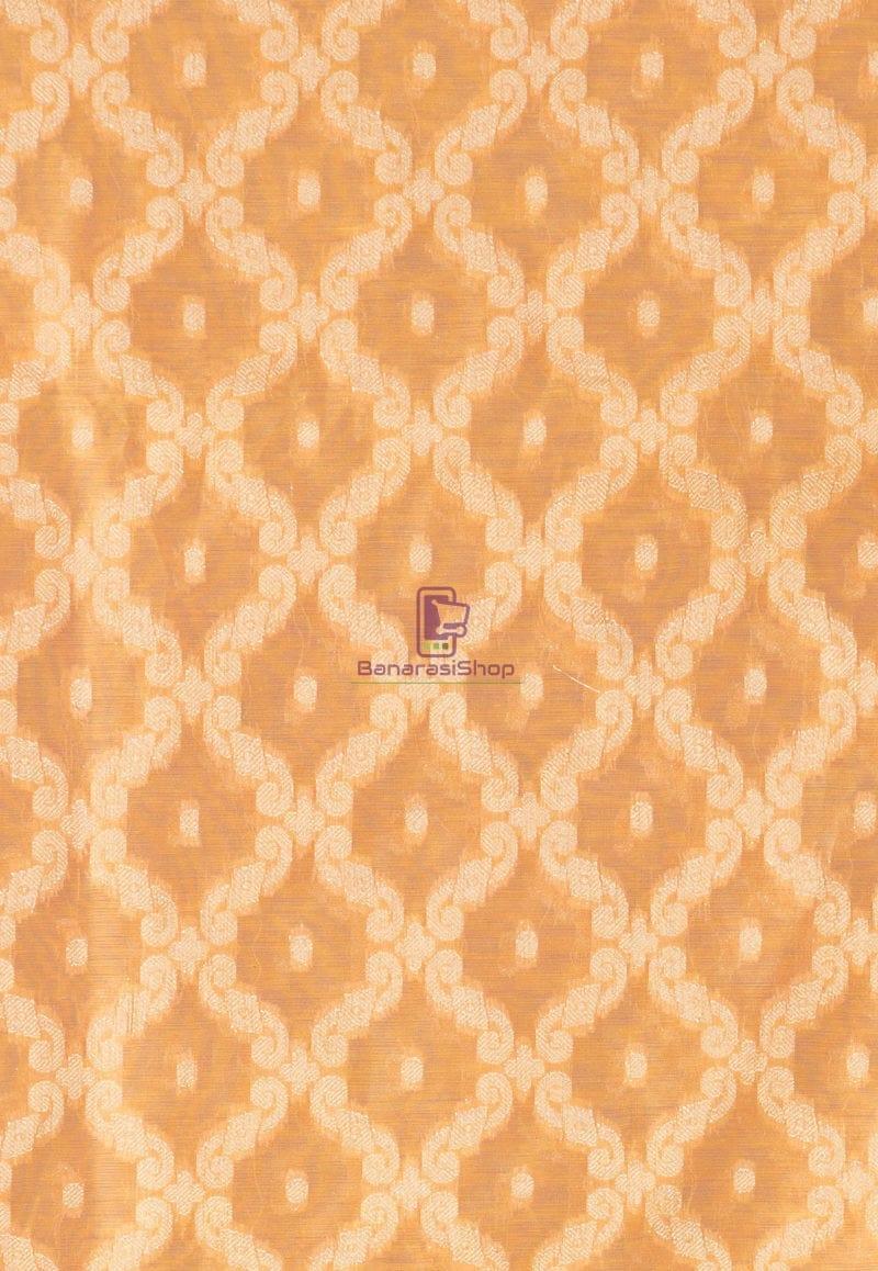 Banarasi Cotton Silk Dupatta in Mustard 2