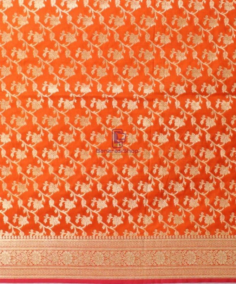 Woven Banarasi Art Silk Dupatta in Golden Orange 3