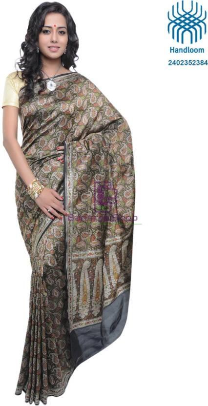 Pure Banarasi Handloom Jamdani Silk Saree 1