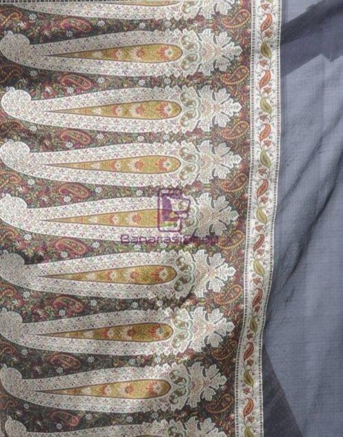 Pure Banarasi Handloom Jamdani Silk Saree 9
