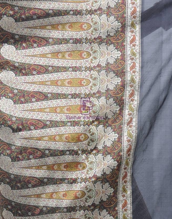 Pure Banarasi Handloom Jamdani Silk Saree 5
