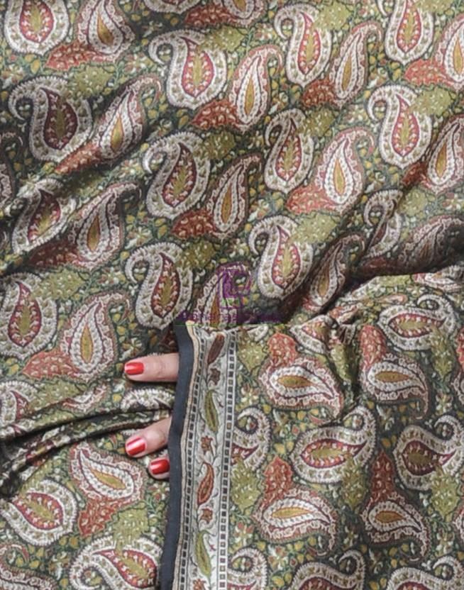 Pure Banarasi Handloom Jamdani Silk Saree 4