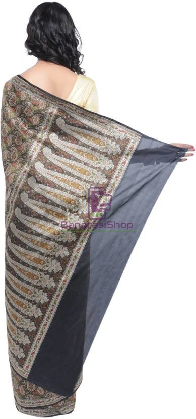 Pure Banarasi Handloom Jamdani Silk Saree 3