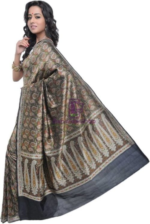 Pure Banarasi Handloom Jamdani Silk Saree 6