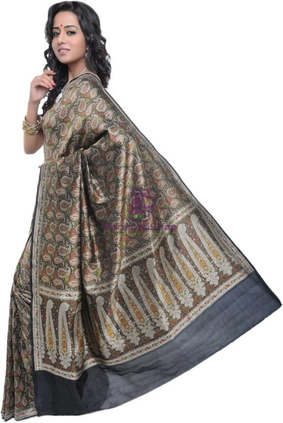 Pure Banarasi Handloom Jamdani Silk Saree 2