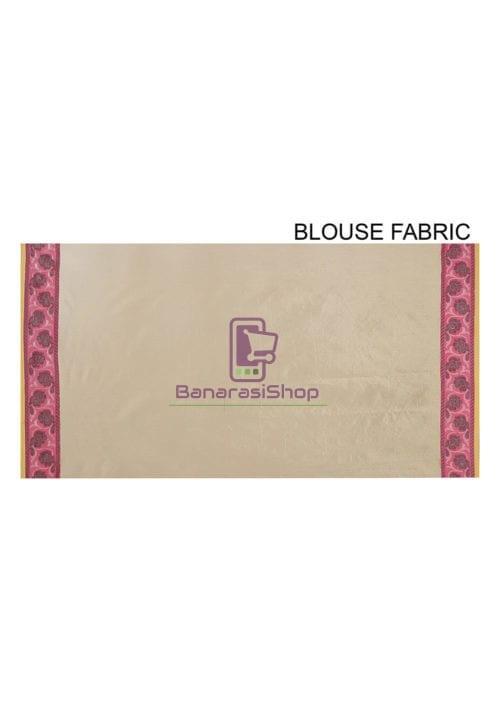 Woven Banarasi Cotton Silk Saree in Olive Green 7