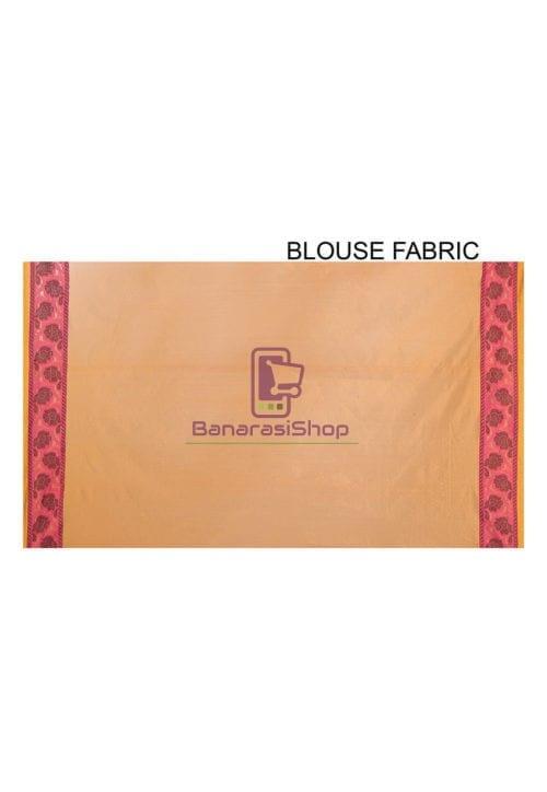 Woven Banarasi Cotton Silk Saree in Rust 7