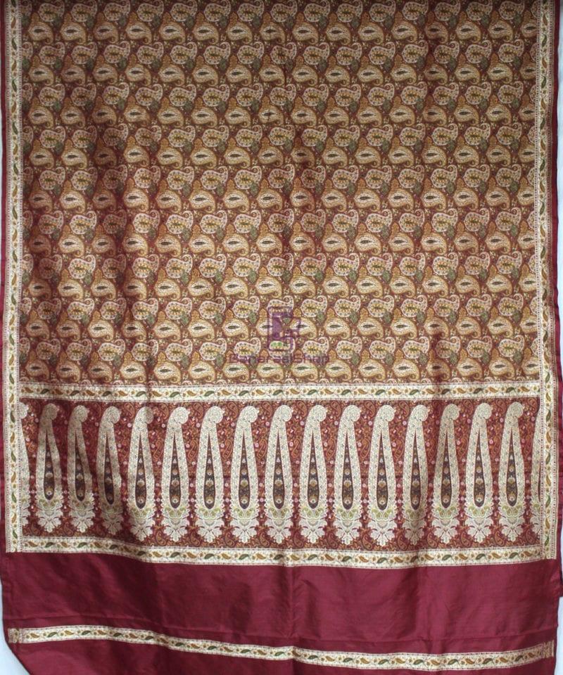 Handwoven Pure Banarasi Jamdani Silk Saree in Red 3