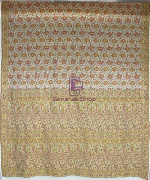 Handwoven Pure Banarasi Jamdani Chiffon Silk Saree in White 4