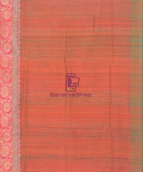 Banarasi Pure Handloom Dupion Silk Candy Red Saree 7