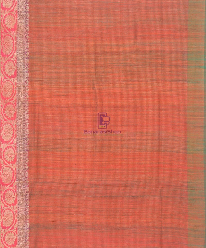 Banarasi Pure Handloom Dupion Silk Candy Red Saree 4