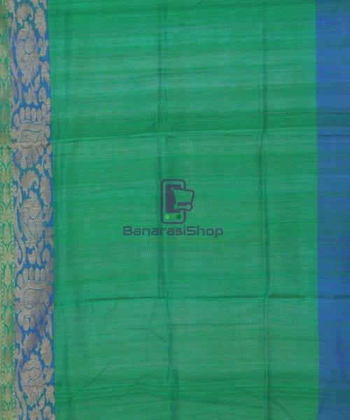 Banarasi Pure Handloom Dupion Silk Tiger Orange Saree 7