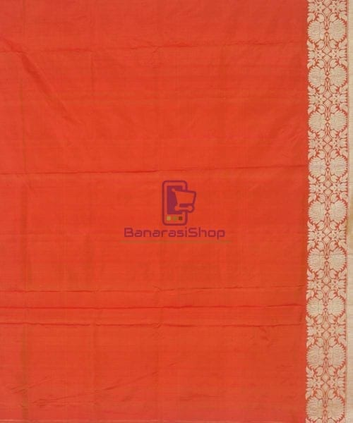Banarasi Pure Handloom Rose Red Katan Silk Saree 7
