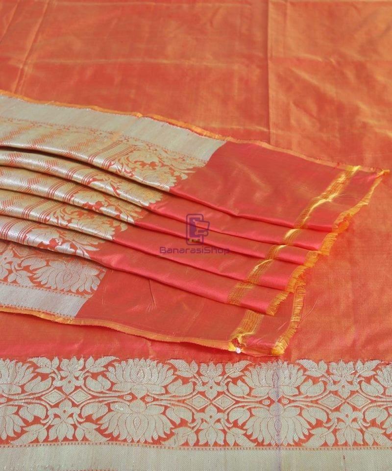 Banarasi Pure Handloom Rose Red Katan Silk Saree 1