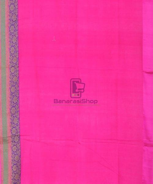 Banarasi Pure Handloom Dupion Silk Orange Silk Saree 7