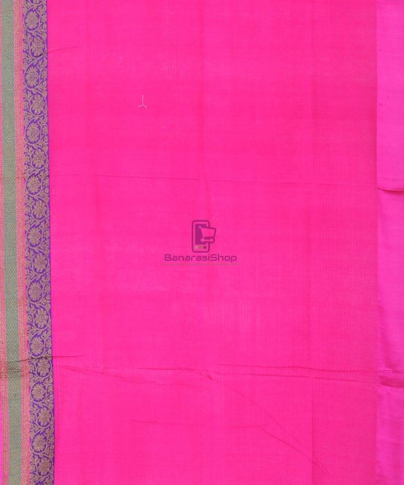 Banarasi Pure Handloom Dupion Silk Orange Silk Saree 4