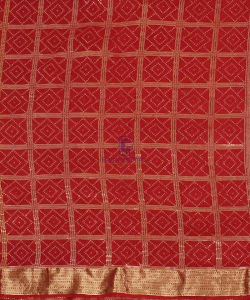 Pure Banarasi Muga Silk Handloom Saree in Brick Brown 2