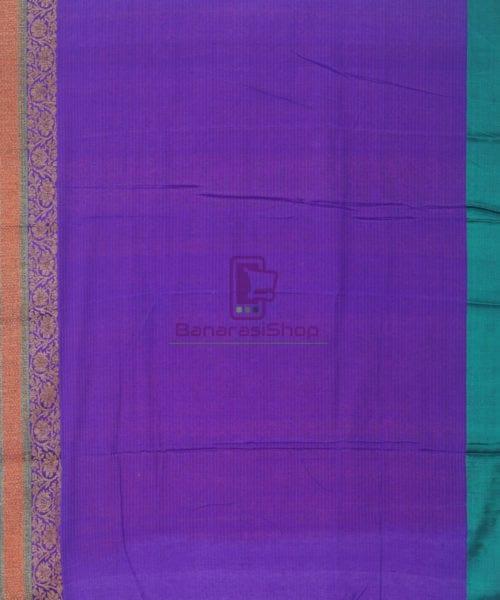 Banarasi Pure Handloom Dupion Silk Fire Orange Saree 7