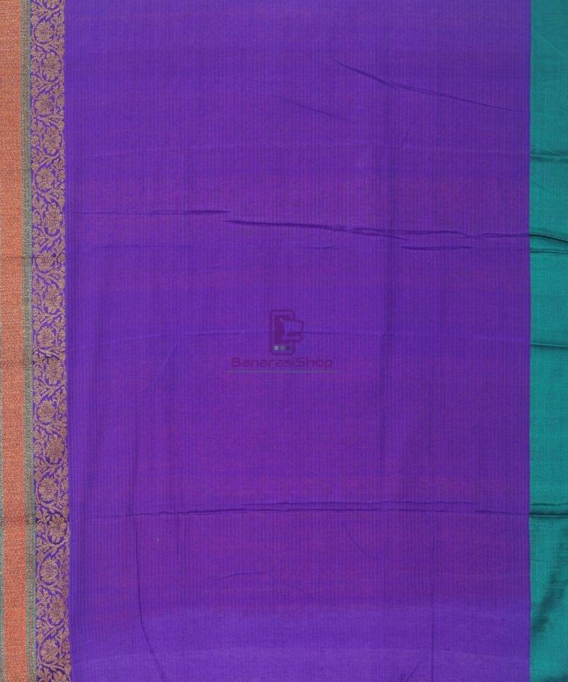 Banarasi Pure Handloom Dupion Silk Fire Orange Saree 4