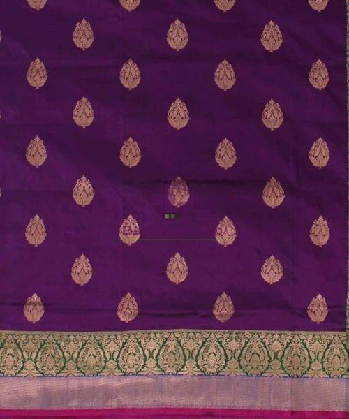 Banarasi Pure Katan Silk Handloom Plum Purple Saree 4