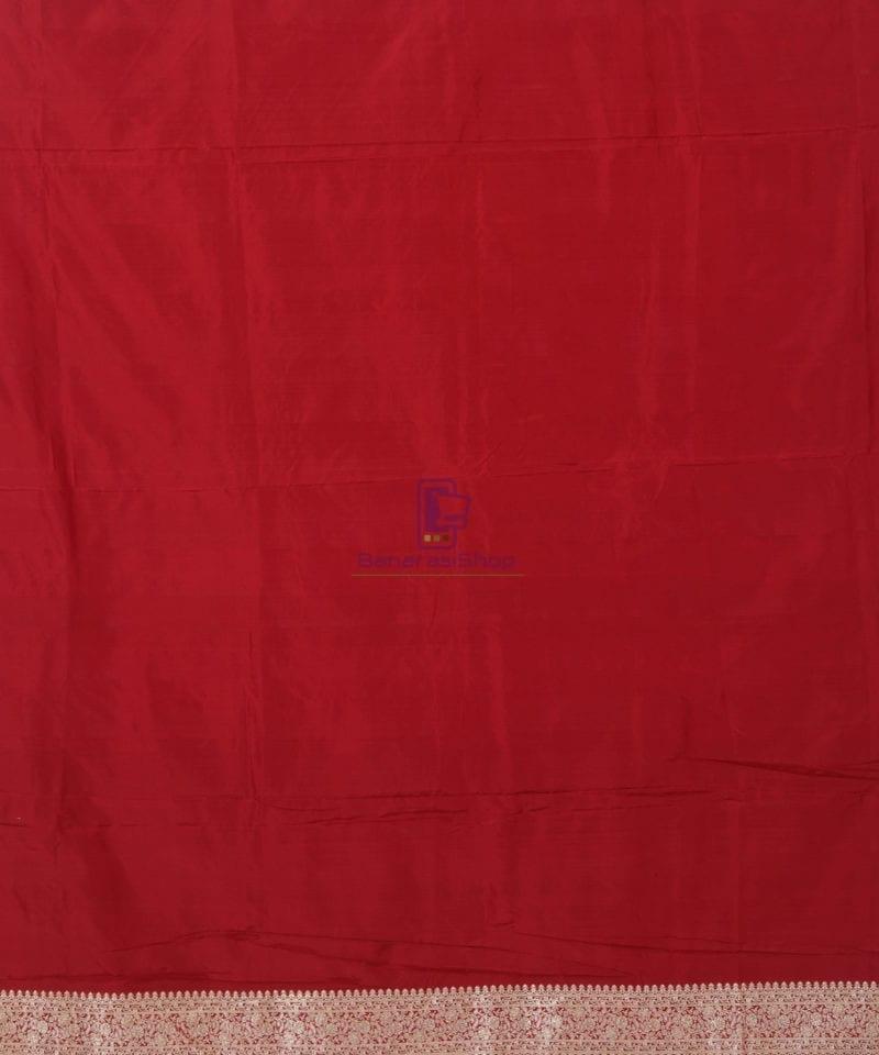 Banarasi Pure Katan Silk Handloom Red Saree 3