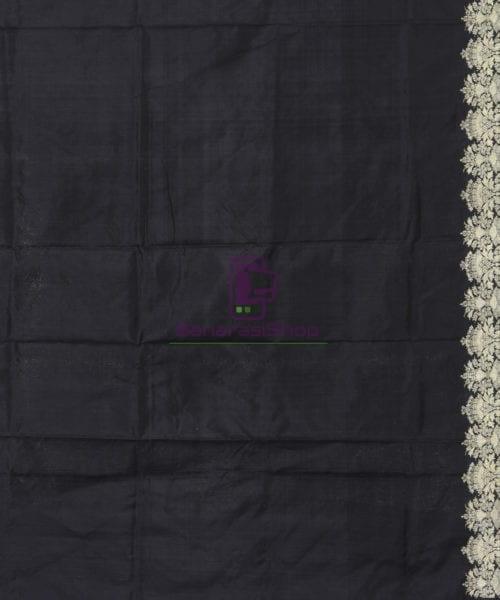 Banarasi Pure Katan Silk Handloom Jet Black Saree 6