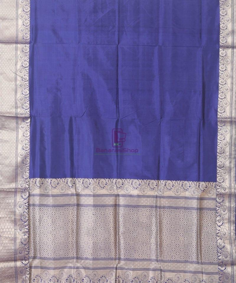 Banarasi Pure Katan Silk Handloom Blue Silk Saree 1