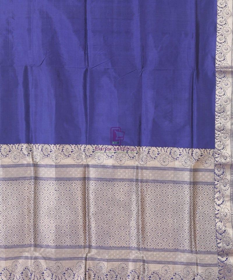 Banarasi Pure Katan Silk Handloom Blue Silk Saree 2