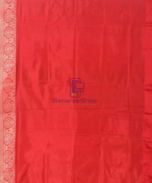 Banarasi Pure Katan Silk Handloom Lime Green Saree 6