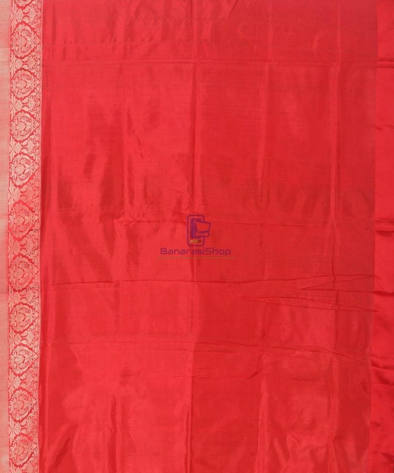 Banarasi Pure Katan Silk Handloom Lime Green Saree 3
