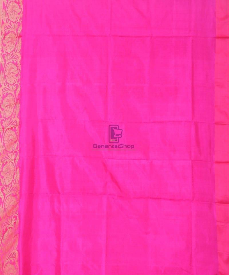 Banarasi Pure Katan Silk Handloom Silk Red Saree 3