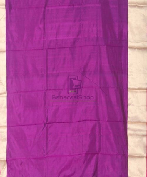Banarasi Pure Katan Silk Handloom Eggplant Purple Saree 5
