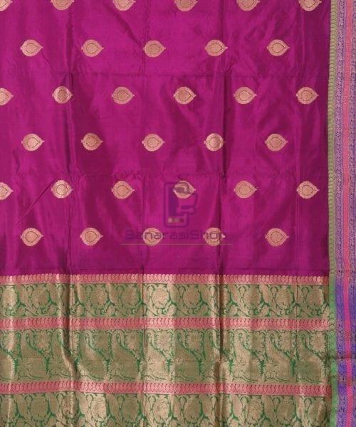 Banarasi Pure Katan Silk Handloom Jam Purple Saree 4