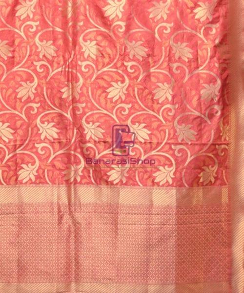 Handwoven Pure Banarasi Uppada Silk Candy Red Saree 5