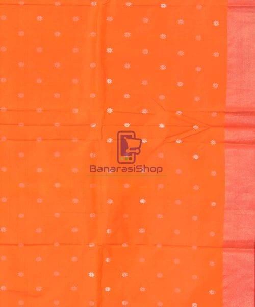 Banarasi Pure Katan Silk Handloom Orange Saree 5