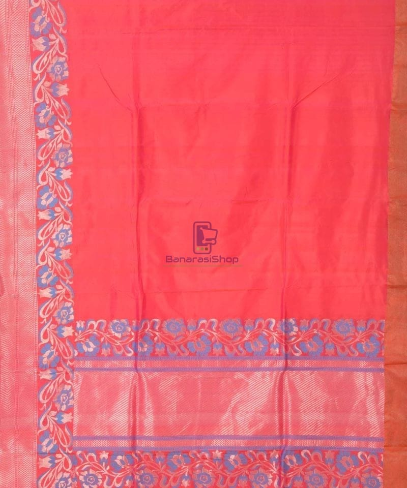 Banarasi Pure Katan Silk Handloom Red Saree 2