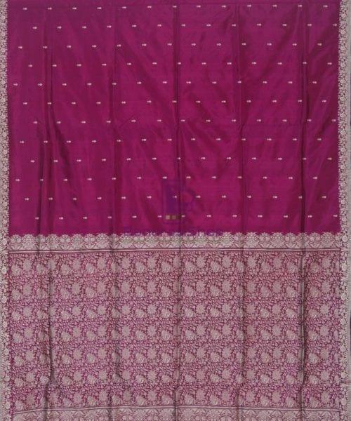 Banarasi Handloom Wine Purple Katan Saree 4