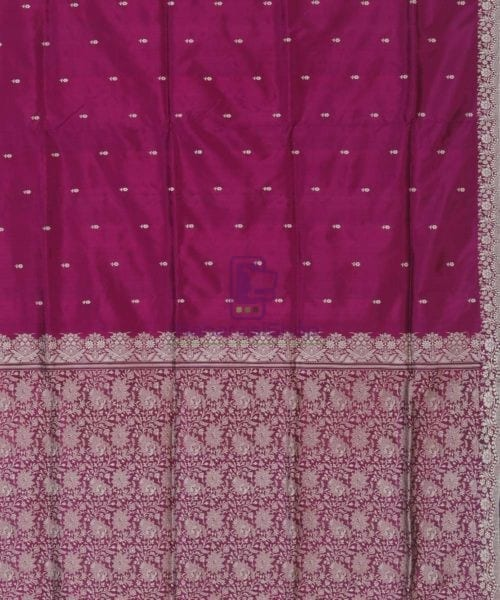 Banarasi Handloom Wine Purple Katan Saree 5