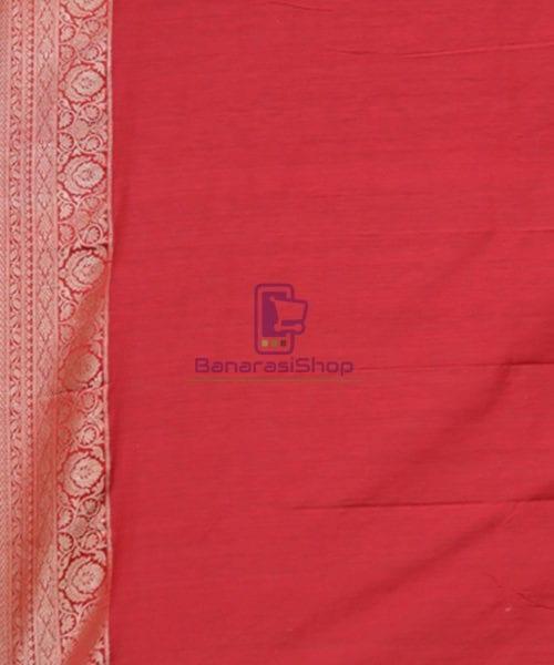 Pure Banarasi Tussar Handwoven Cloud Grey Silk Saree 6