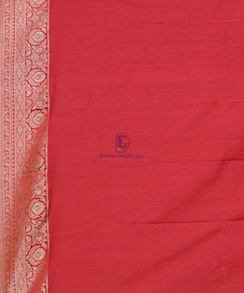 Pure Banarasi Tussar Handwoven Cloud Grey Silk Saree 3