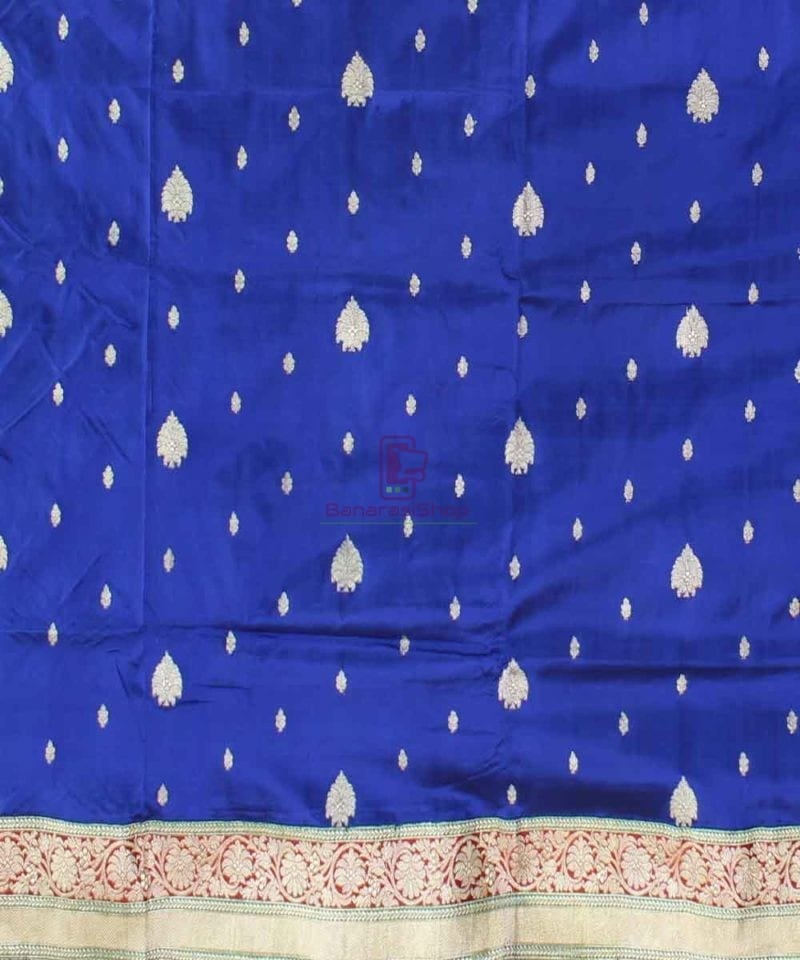 Banarasi Pure Katan Silk Handloom Royal Blue Saree 2