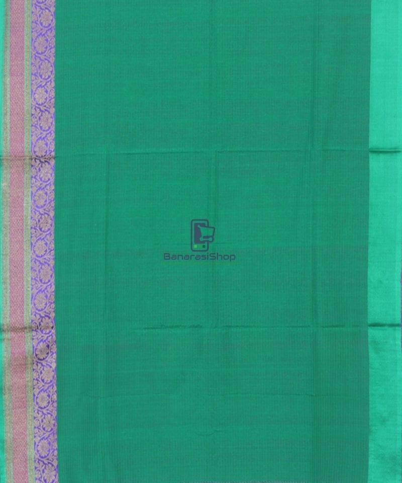 Banarasi Pure Handloom Dupion Silk Taffy Pink Saree 2