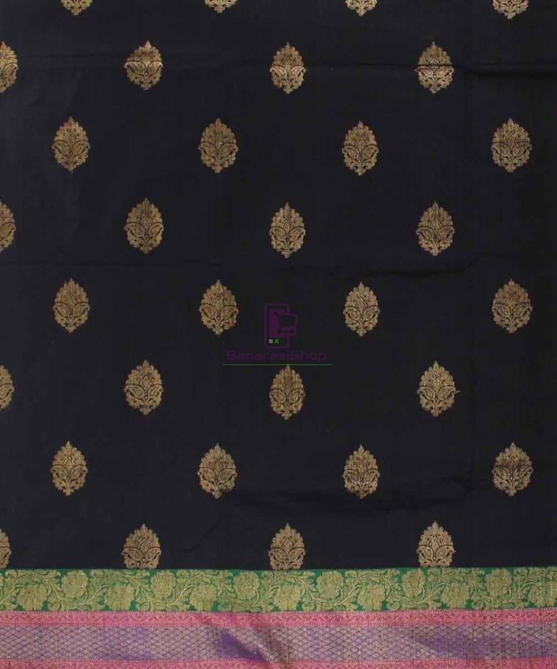 Banarasi Pure Handloom Dupion Silk Black Saree 2