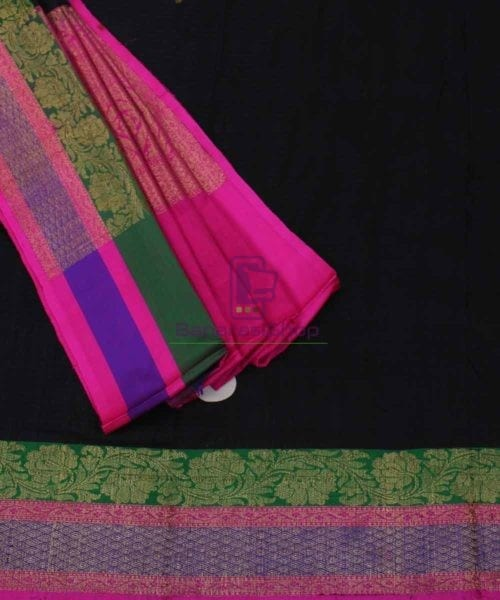 Banarasi Pure Handloom Dupion Silk Black Saree 5