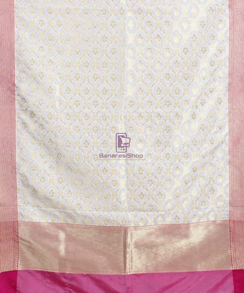 Banarasi Art Silk Off White Dupatta 1