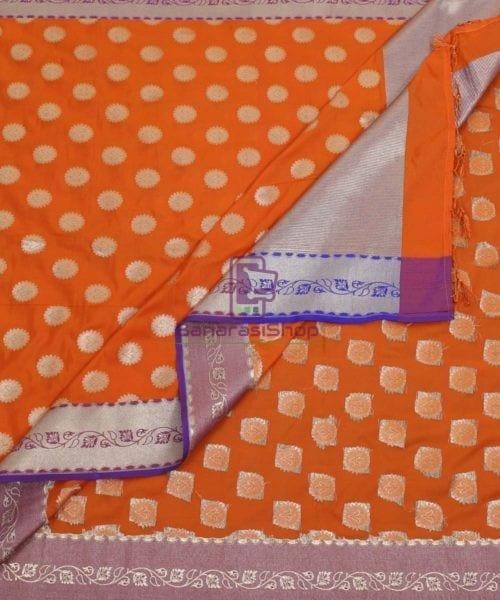 Banarasi Art Silk Orange Dupatta 5