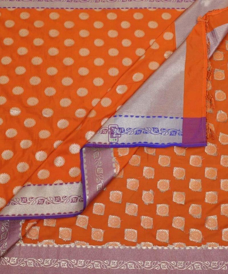Banarasi Art Silk Orange Dupatta 3