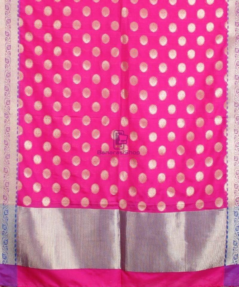 Banarasi Art Silk Pink Dupatta 1