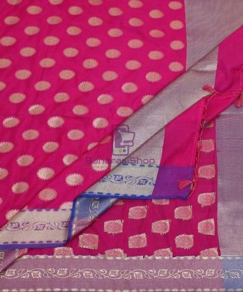 Banarasi Art Silk Pink Dupatta 5