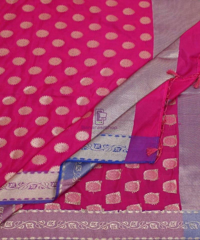 Banarasi Art Silk Pink Dupatta 3